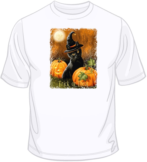 Trick or Treat - Cat T Shirt
