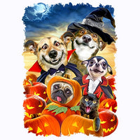Halloween Selfie 2 - Dogs and Cats T Shirt