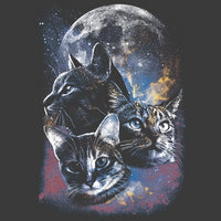 Space Cats Moon T Shirt