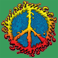 Peace Sign - Amoeba  T Shirt