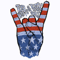 Rock & Roll Hand Peace Sign USA T Shirt