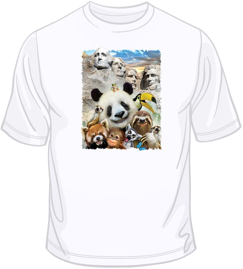 Mt Rushmore - funny animal selfie T Shirt