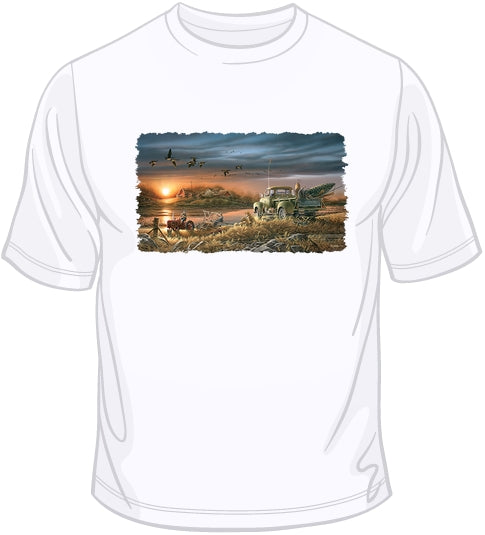 Patiently Waiting - Geese T Shirt