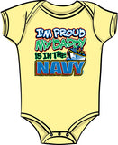 Proud of My Daddy - Navy T Shirt