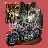 Wolf Legend w/ Motorcycle T Shirt