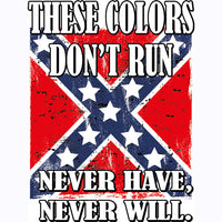 These Colors Don't Run - Never Have Never Will Rebel Flag  T Shirt