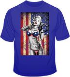 Marilyn Flag Freedom T Shirt