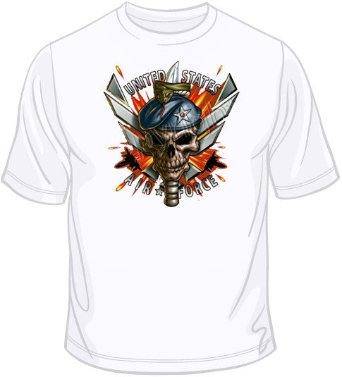 Airforce Skull T Shirt