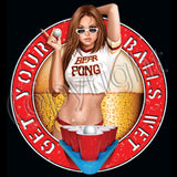 Beer Pong Girl T Shirt