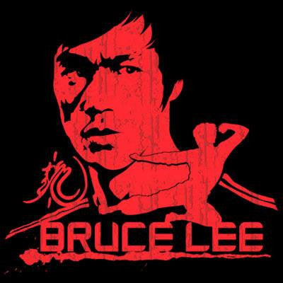Bruce Lee Red T Shirt