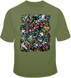 Colored Clowns 1  T Shirt