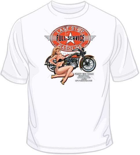 Full Service Motorcycle Girl T Shirt