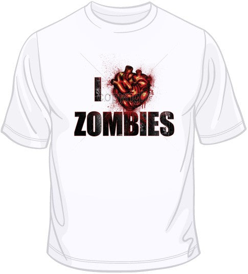 I Love Zombies T Shirt