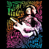 Jimi Hendrix One Night Neon  T Shirt