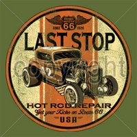 Last Stop Hot Rod Repair T Shirt