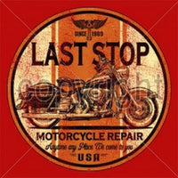 Last Stop Motocycle Repair T Shirt