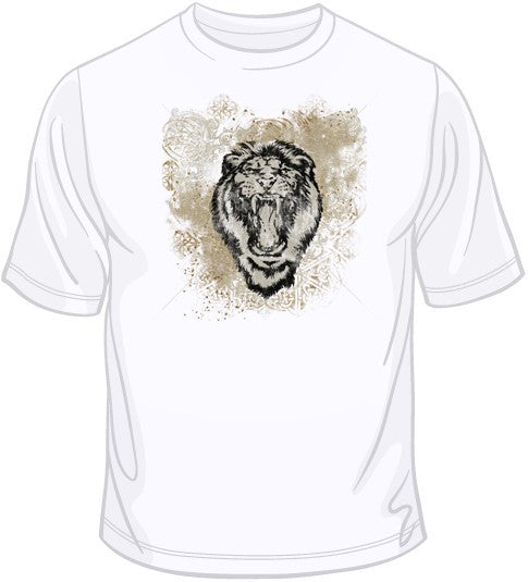 Lion with Scroll T Shirt