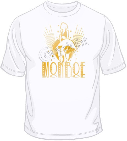 Marilyn Skirt Gold Foil T Shirt