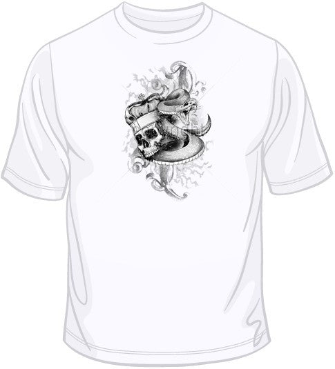 Skull with Crown & Snake T Shirt