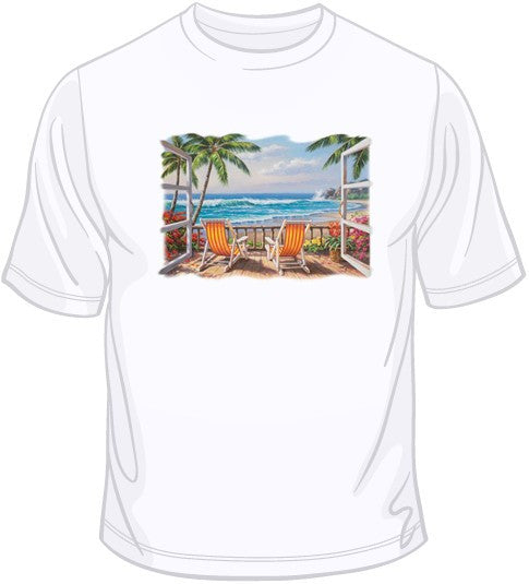 Tropical Terrace for Two T Shirt