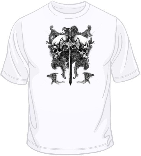 Viking Skull with Ax (supersized) T Shirt