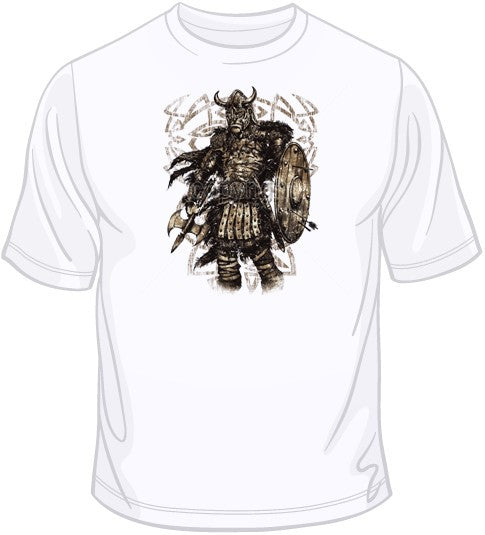 Viking with Shield (supersized) T Shirt