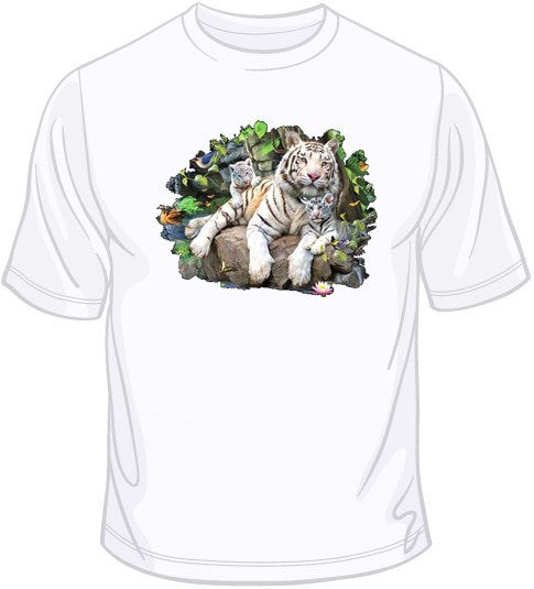 White Tiger Family T Shirt