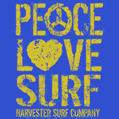 Peace, Love, Surf T Shirt