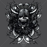 Screaming Viking Skull (supersized) T Shirt
