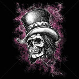 Skull with Top Hat- With Pink Cloud T Shirt