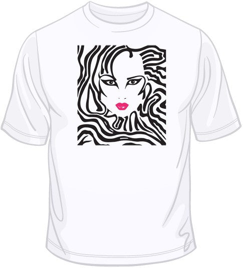 Zebra Woman T Shirt