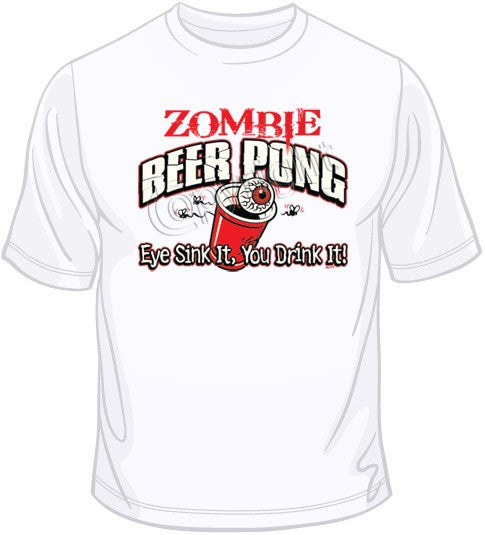 Zombie Beer Pong T Shirt