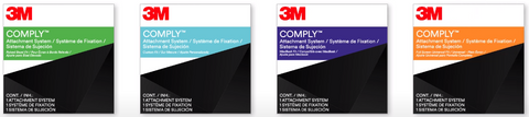 3M privacy filter 4 type of comply attachments
