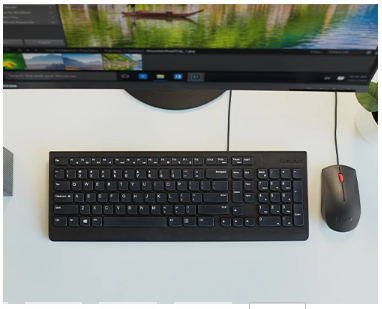 Lenovo Essential Wired US Keyboard And Mouse Combo  4X30L79883