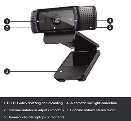 Logitech c920 webcam singapore features