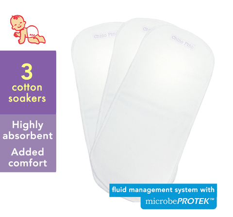 Cotton Soakers with microbePROTEK™ Fluid Management System