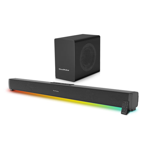 CloudWalker BÜRST E3000 100W 2.1 Channel Bluetooth 5.0 Soundbar with External Wired Subwoofer