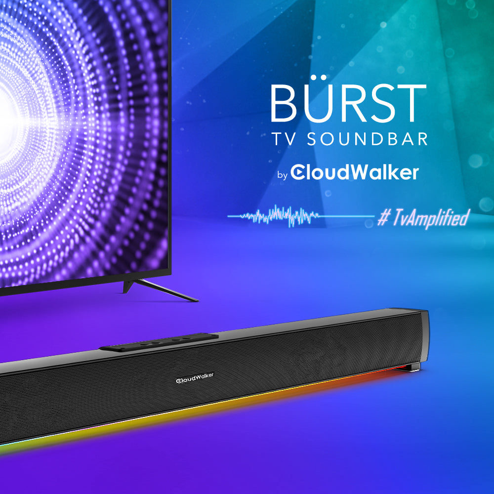 CloudWalker BÜRST I2000 50W 2.1 Channel Bluetooth 5.0 Soundbar with Built-in Subwoofer
