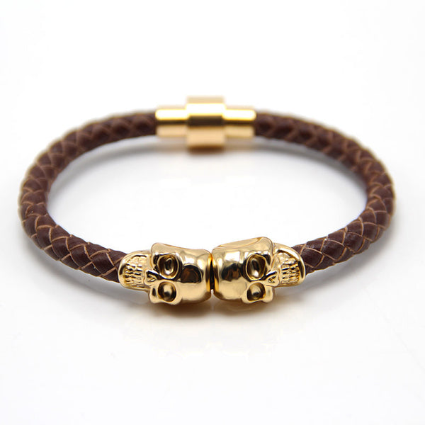 Skull Gold & Brown