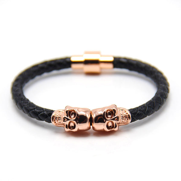 Skull Rose Gold & Black