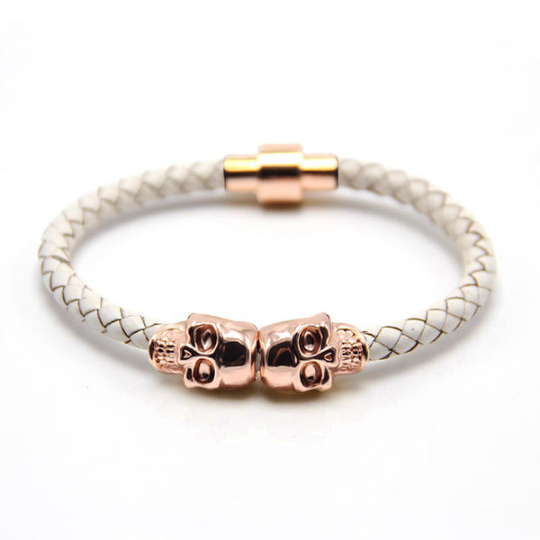 Skull Rose Gold & White