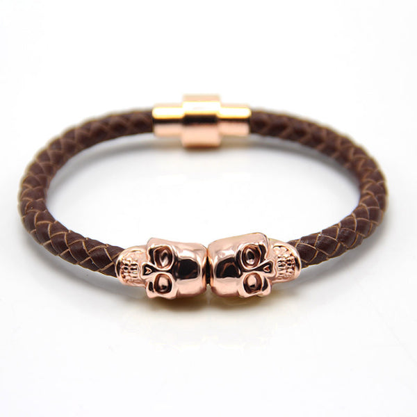 Skull Rose Gold & Brown