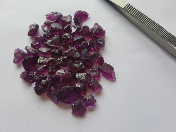 "A selection of Mozambique Purple ""Grape"" Garnet offered to our friends over at Nomad's"