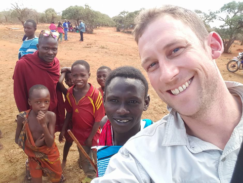 Chris Hood in his travels in Africa to source your favourite treasures!