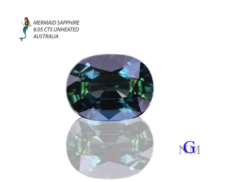 """Here is an example of what Navneet calls a """"Mermaid"""" Sapphire"""