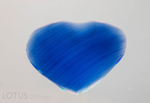 Curved colour banding in Verneil-grown Synthetic sapphire