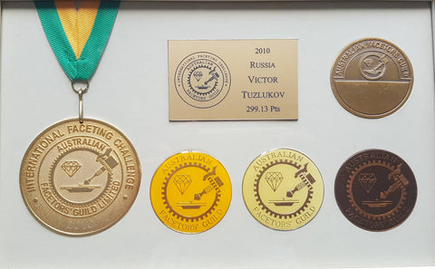 Victor earned an impressive collection of international gems cutting awards