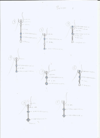 Development of cobalt spinel earrings