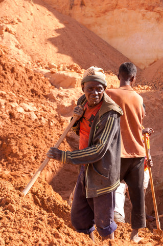 In the mines I have seen old and young men working but never have I seen kids digging