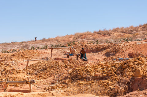 Here is a picture of Analasoa Mine, Madagascar